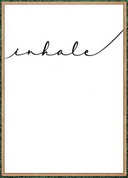 Quadro Inhale Inale Frase Yoga