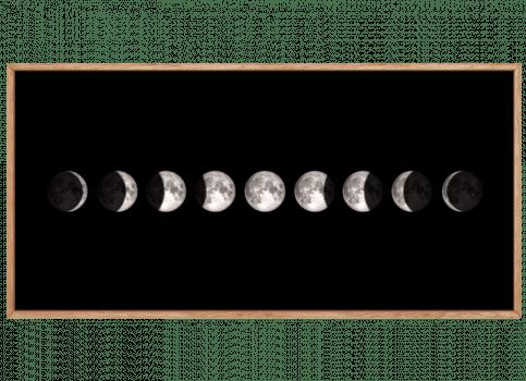 Quadro Decorativo Lua Fases Horizontal
