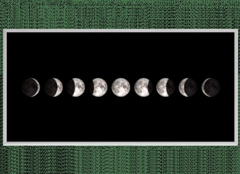 Quadro Lua Fases Horizontal