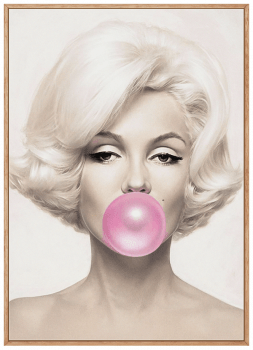 Quadro Decorativo Marilyn Monroe Chiclete Bubble