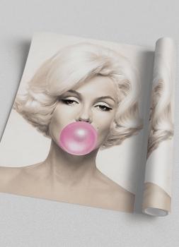Quadro Marilyn Monroe Chiclete Bubble