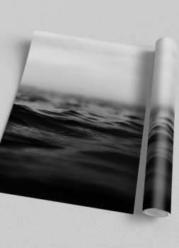 Quadro Mar Oceano Fotografia Preto e Branco