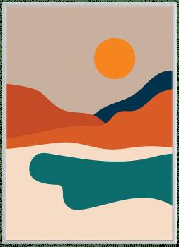 Quadro Decorativo Paisagem Colorida