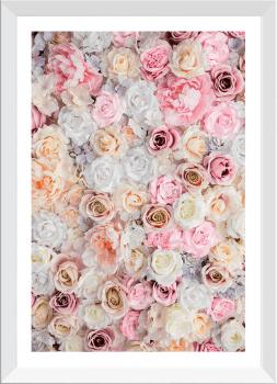 Quadro Decorativo Rosas Flores Fotografia Nude