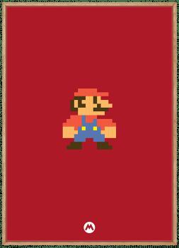 Quadro Decorativo Super Mario - Video Game
