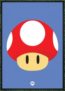 Quadro Decorativo Super Mario Toad - Video Game